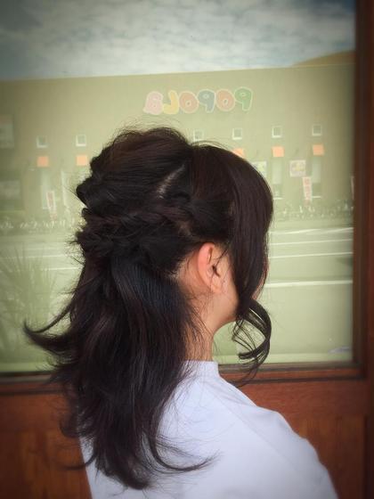 マロンブラウンでトーンダウン♫ 秋カラーに変身♫ 最後に簡単アレンジ♫ DONNA下田店所属・水野勇太のスタイル