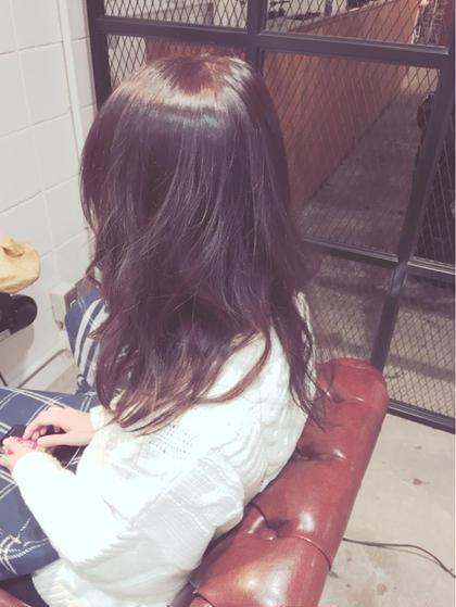 7トーンのヴァイオレットブラウン MARIO HAIR DESIGN所属・杉本雄志のスタイル