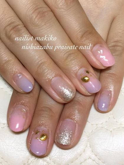 紫陽花カラーのダブルカラグラ✨ nishiazabu private nail所属・nailartistmakikoのフォト