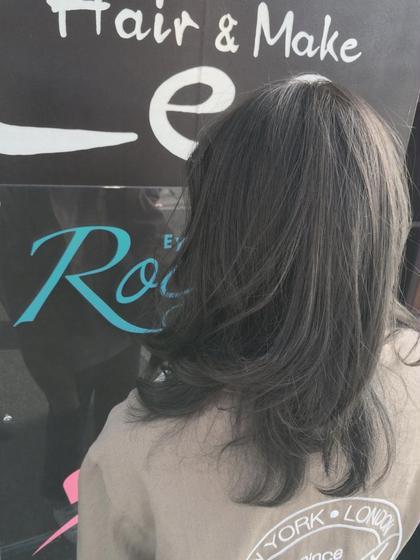 ダークグレー カラーリスト橋本裕貴のミディアムのヘアスタイル