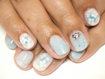 紫陽花イメージのホロフラワー Ak nail所属・富岡明子のフォト