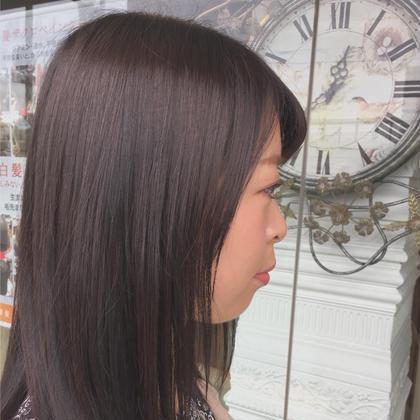 地毛より少し明るめのオーダーで🎨🖤 矢野文香のセミロングのヘアスタイル