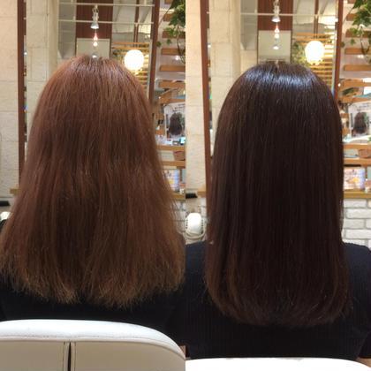 サイエンスアクア+カラーでうるツヤ髪へ💜 横に広がってしまう髪が落ち着きます! ヘアメイクパッセージ相模大野店所属・大竹彩のフォト