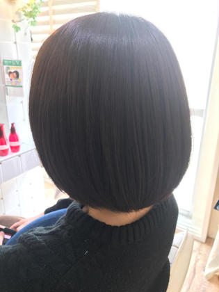 Bob#Hair color#Natural Ash Brown#イルミナH#jojobaoil#Cut#Shampoo#Blow dry  Uncut & lounge所属・前田渉のスタイル