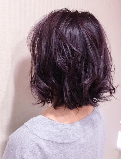 ワンカラー☆ モーブカラー 麻生美穂のショートのヘアスタイル