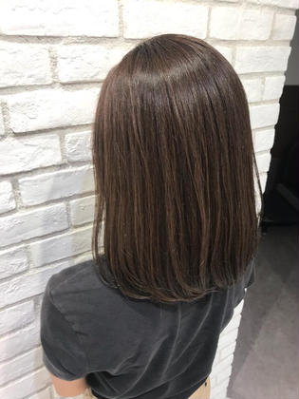 明るくなった髪をイルミナカラーをいれて黄色味除去 くすませカラー
