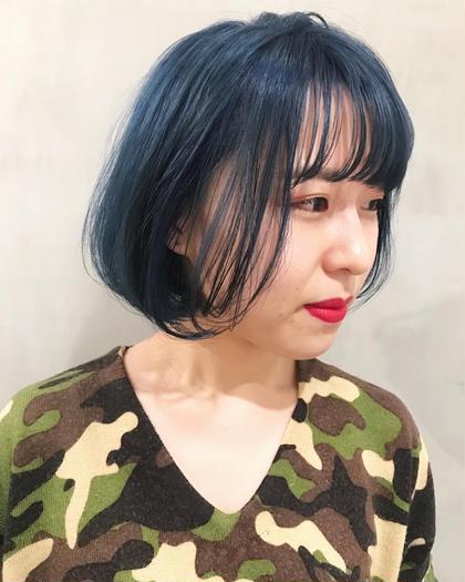 瑠璃 山崎優作のショートのヘアスタイル