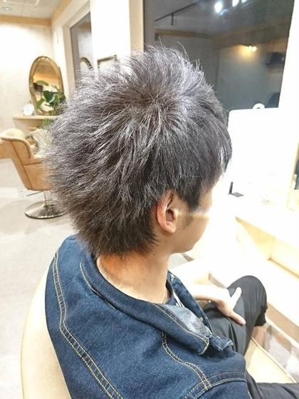 【ナノスチームよる髪質改善付き⠀】メンズカット+炭酸シャンプー