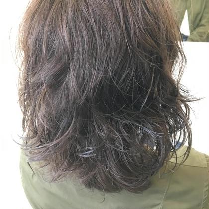 ウェットパーマ×グレーアッシュ TORE所属・川合勇気のスタイル
