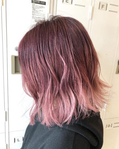 【ピンクグラデーション】 HairModeKT池田点所属・中村壮汰のスタイル