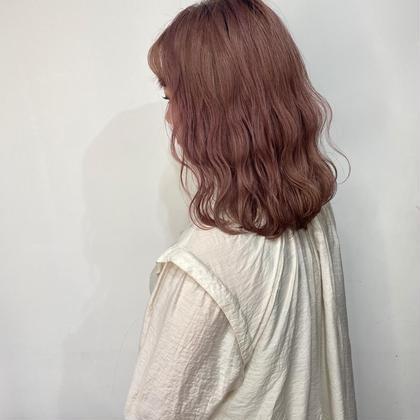 🍑cute color 🍑可愛くなれるピンク系イルミナカラー+7種トリートメント