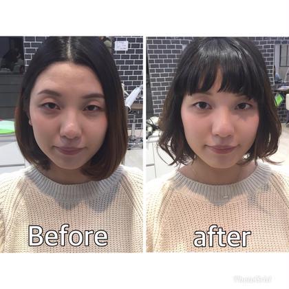 前髪のバランスで与える印象を変えます! 中村美穂のショートのヘアスタイル