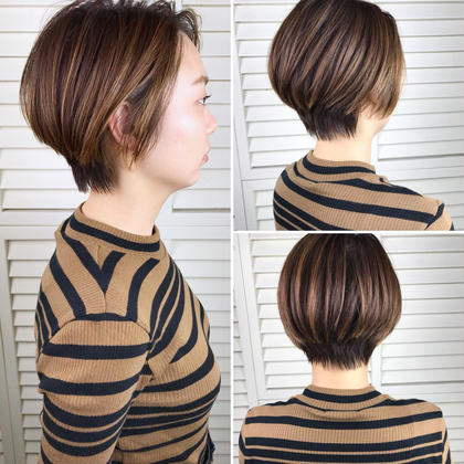 その他 カラー ショート パーマ ヘアアレンジ Real salon work✂︎ 【 short ✂︎ 】 . 丸みとえりあしを残した甘くないショート✯ . 骨格をキレイに見せてくれます◎ . どのくらいの長さにしたいかお伝え下さい。 イマの気分にfitしたcutします✂️ . . #NAKAIstyle #ショートヘア