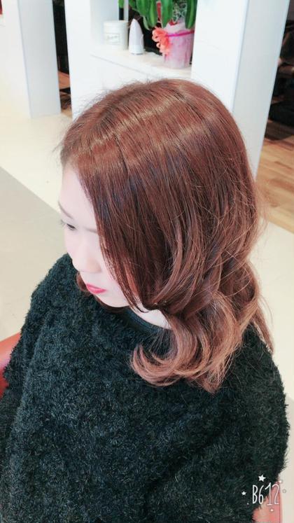 ベリーピンク❤ EARTH佐世保早岐所属・stylist白川大謹のスタイル