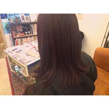 ピンクブラウンカラー♡ ¥9072 +¥1080  femmeatelier所属・西上絵里沙のスタイル