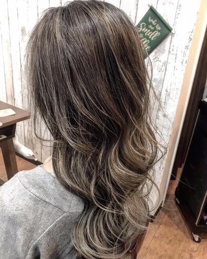 ハーフハイライト&カラー【髪質改善ケア】付き❤️