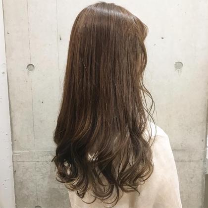 シナモンベージュ♡ 山本真帆のセミロングのヘアスタイル