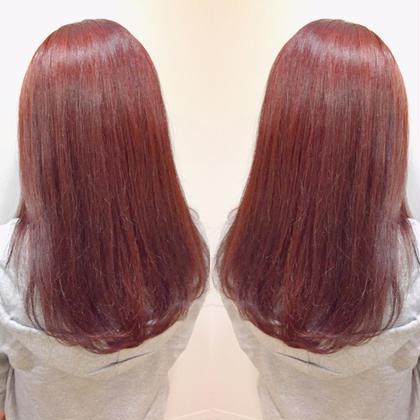 カラー ブリーチなしのフェニミティーピンク★  髪が明るければブリーチなしでも可能