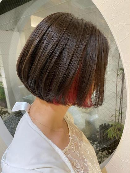 (さら艶髪🍑)縮毛矯正 & カット&トリートメントサービス