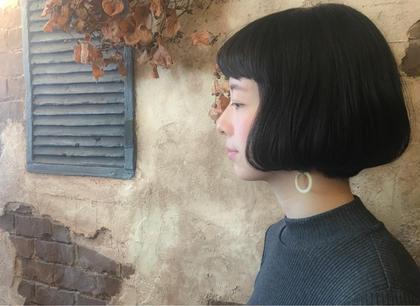 重めなグラデーションボブ  前髪を短めに♪ magiy hair所属・nico。のスタイル