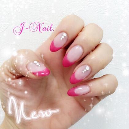 ピンクフレンチネイル jewelry  nail所属・本村寛子のフォト