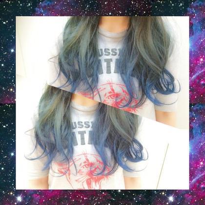 BLUEのグラデーション♡オシャレデザインカラーはお任せください。 AXIS所属・KASUGAIYOUのスタイル
