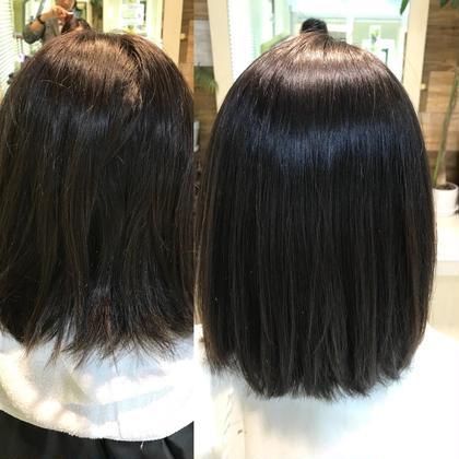 髪質改善縮毛矯正♪アイロン、ブローなしでこの仕上がりです^ ^ 中田翔のミディアムのヘアスタイル