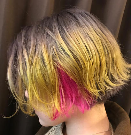 カラーバターやヘアマニキュアなど、個性のあるカラーでも大歓迎です^ ^