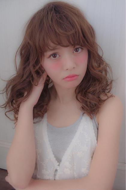☆フェミニンガーリーウェーブミディ☆ 大人の色気とあどけなさ、カラーとウェーブで360度かわいいスタイル✨ Sungoose TOKYO所属・原澤雄貴のスタイル