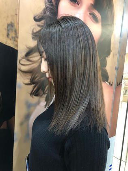 【10月限定】⭐️カット&ヘアカラー&ツヤツヤ縮毛矯正&補修トリートメント⭐️梅雨の時期はくせ毛を抑えてカラーも⭕️
