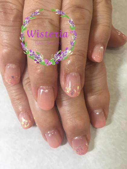 グラデーション シンプルコース 2200円 Wisteria所属・nail salonWisteriaのフォト