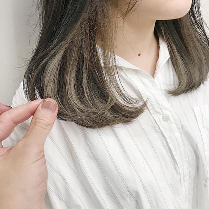インナーホワイトベージュです! 藤田一輝のセミロングのヘアスタイル