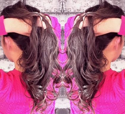 セミロング 外国人風カラー×バレイヤージュ ラベンダーグレー☆  ナチュラル好きな方にオススメなデザインカラー☆  原色のファッションコーデをする方でも相性抜群☆