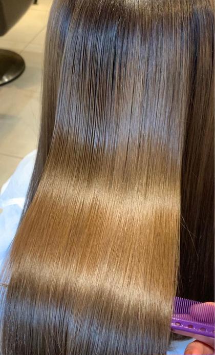 乾かすだけでサラサラ✨ブリーチ毛に出来る縮毛矯正☘️酸性ストレート+最高級3stepトリートメント