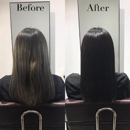 💘就活・インターン専用💘色落ちしない黒染めカラー+好印象前髪カット+愛され前髪パーマ+保湿トリートメント