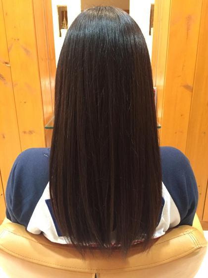 縮毛矯正でしっかりと伸ばし、ツヤのある髪の毛の完成です! equri不動前所属・井上友哉のスタイル