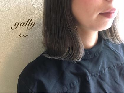 カラー アディクシーcolor♡シルバー  ブリーチ毛先にしているので、 透明感抜群です✌︎('ω')✌︎  ※ブリーチ要相談
