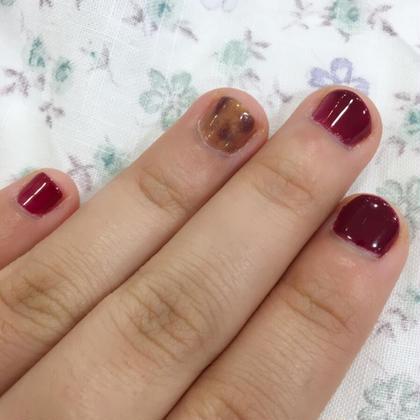 私の爪です(*^^*)笑 べっ甲がかわいい! hair&make ZEST 立川南口店所属・サトヨシカナデのスタイル