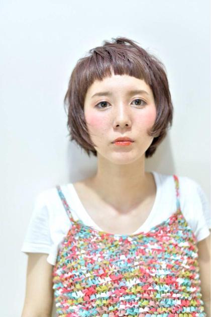 顔まわりをシャギーにいれたショートマッシュです♬ スタイリングもすごく簡単ですよ☆ epris所属・勝本展領のスタイル