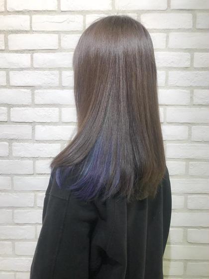 🔸🔹デザインカラー【前髪カット+簡単トリートメント付】🔹🔸ポイントカラー+全体カラーで人と違うオシャレ!