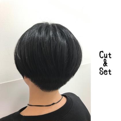 Menu Cut ¥1000  Styling N. SEA MILK ¥2600 Chill所属・たごあつしのスタイル