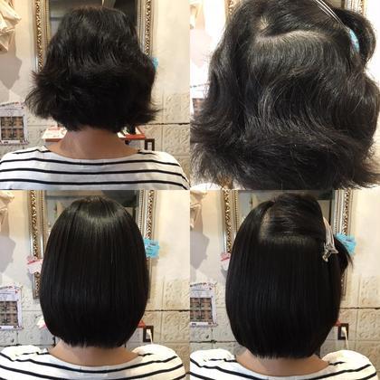 どうにもできないクセも インショウでは自然なストレートで 扱いやすい髪に^ ^ insyo  hair lounge  中山駅本店所属・山田俊佑のスタイル
