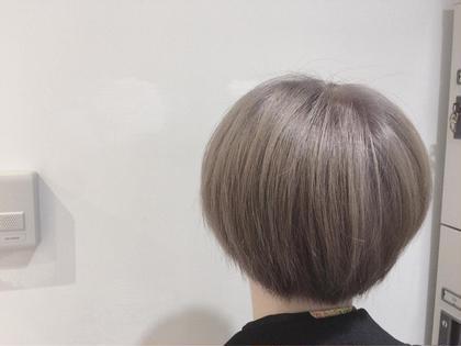 ブリーチ2回 クリーミーベージュ☆ allys hair aoyama所属・鈴木マリアのスタイル