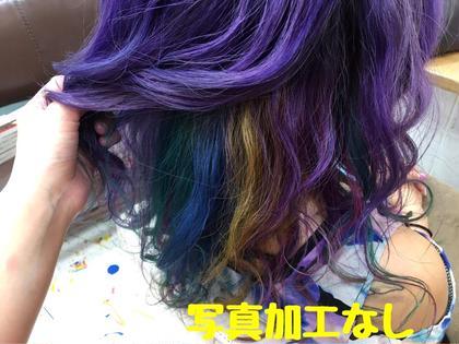 カラー ミディアム デザインカラー マニパニで楽しんでみました!!