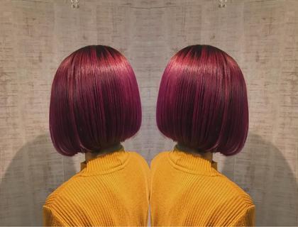 前回は寒色系をいれており、前の色が残っていましたが、しっかりベースから作っているので、カラーチェンジしてもこの通り!! hair&makeEARTH所属・家根達也のスタイル