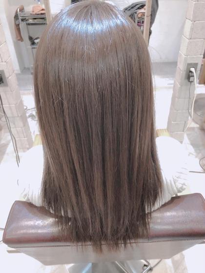 オーガニック潤艶全体カラー \4000【憧れのうるツヤ髪に☆】システムトリートメント¥2000