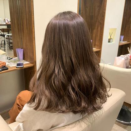 【平日限定】🐻❄️カラー+アジュバンプラチナムトリートメント🐻❄️巻き髪スタイリング込み♡