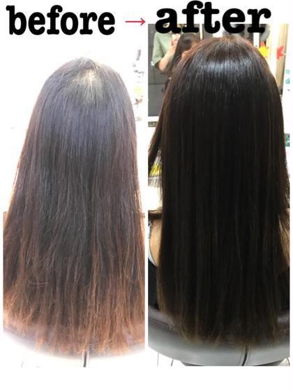 傷んで色落ちしてしまった毛先も同じ色に揃えます♪♪♪ ROSSO所属・中村礼奈のスタイル