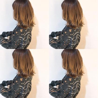 松浦菜摘のミディアムのヘアスタイル