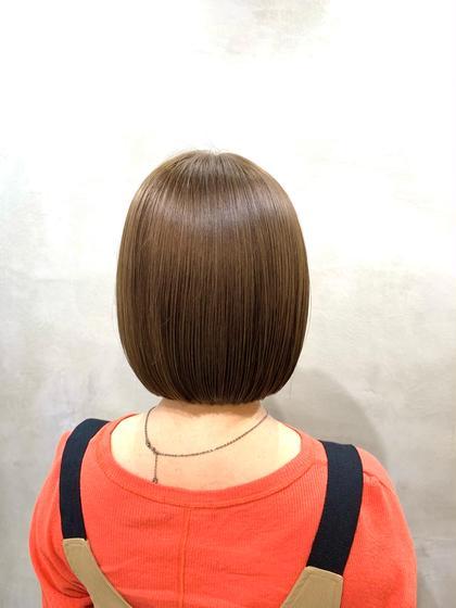 【🌟期間限定クーポン🌟】60%off❣️切りっぱなしカット + カラー + 髪質改善トリートメント🌱
